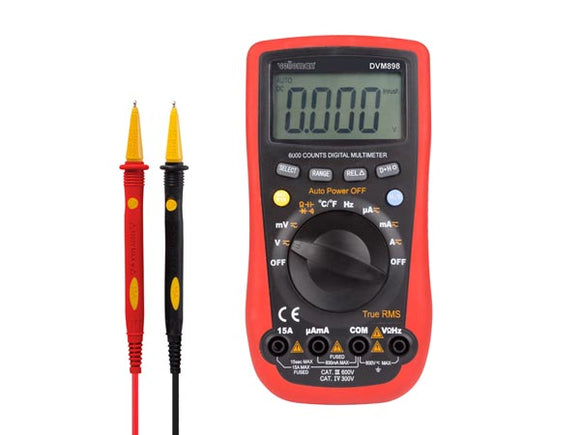 VELLEMAN DVM898 DIGITALE MULTIMETER - CAT III 600V / CAT IV 300V - 15A - 6000 COUNTS - TRUE RMS