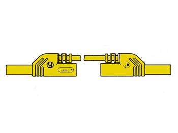 VELLEMAN HM0431S25A CONTACT PROTECTED INJECTION-MOULDED MEASURING LEAD 4MM 25CM / YELLOW (MLB-SH/WS 25/1)