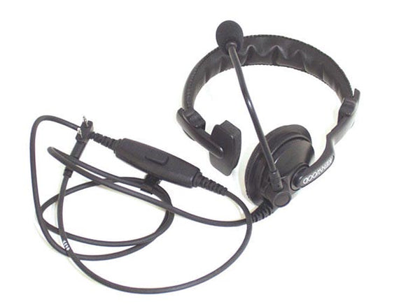 VELLEMAN KNWA010 KENWOOD® KHS-7A SINGLE MUFF HEADSET WITH BOOM MIC, PTT