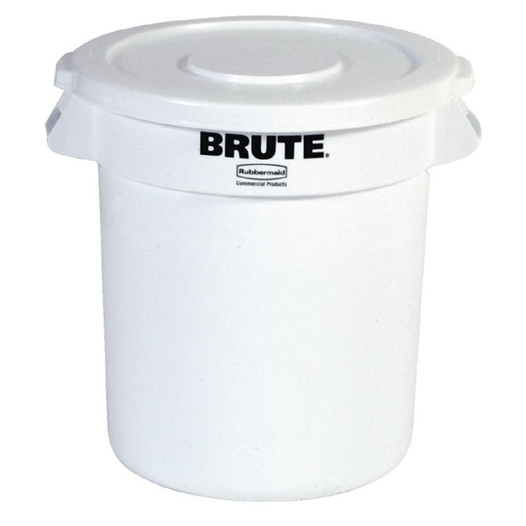 Horeca L653 Rubbermaid Brute ronde container wit 121,1L L653
