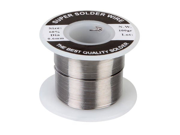 VELLEMAN SOLD100G6 SOLDEER 60/40 0.6MM 100G