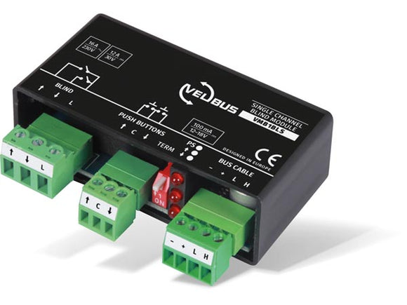 VELLEMAN VMB1BLS VELBUS VMB1BLS SINGLE CHANNEL BLIND CONTROL MODULE FOR UNIVERSAL MOUNTING