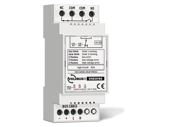VELLEMAN VMB1RYNO VELBUS VMB1RYNO SINGLE CHANNEL RELAY MODULE WITH POTENTIAL‑FREE CHANGEOVER CONTACT FOR DIN RAIL