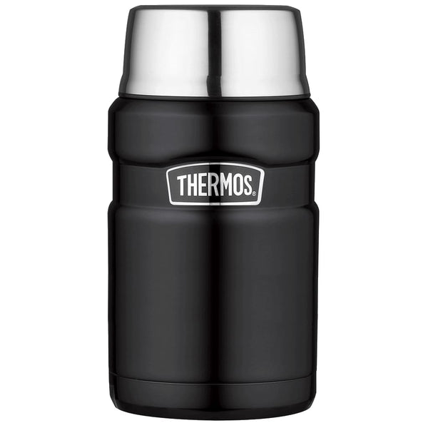 Thermos King Food Flask - 710ml, Matt Black - Thermo Hero