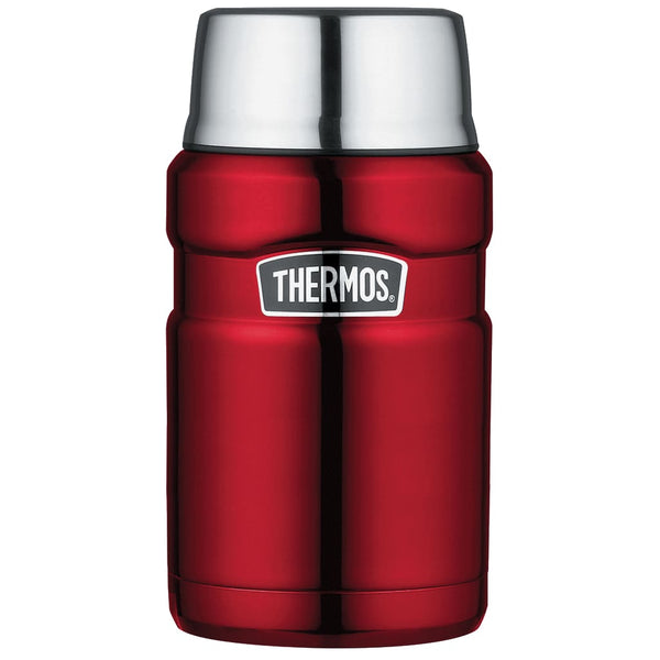 Thermos King Food Flask - 710ml, Red - Thermo Hero