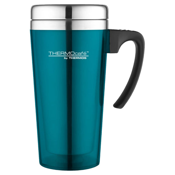 ThermoCafe Soft Touch Travel Mug - 420ml, Lagoon - Thermo Hero