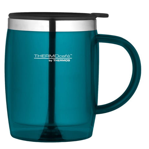 ThermoCafe Translucent Desk Mug - 450ml, Lagoon - Thermo Hero