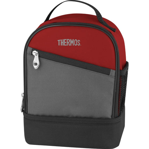 Thermos Essentials Dual Lunch Kit - Burgundy - Thermo Hero