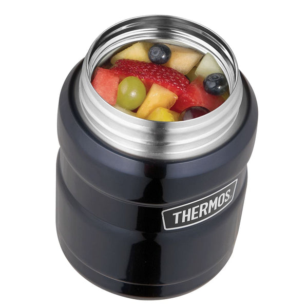 Thermos King Food Flask - 470ml, Matt Black - Thermo Hero