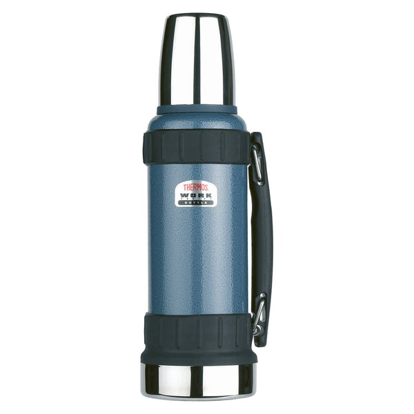 Thermos Work Series Flask - 1.2L, Hammertone Blue - Thermo Hero