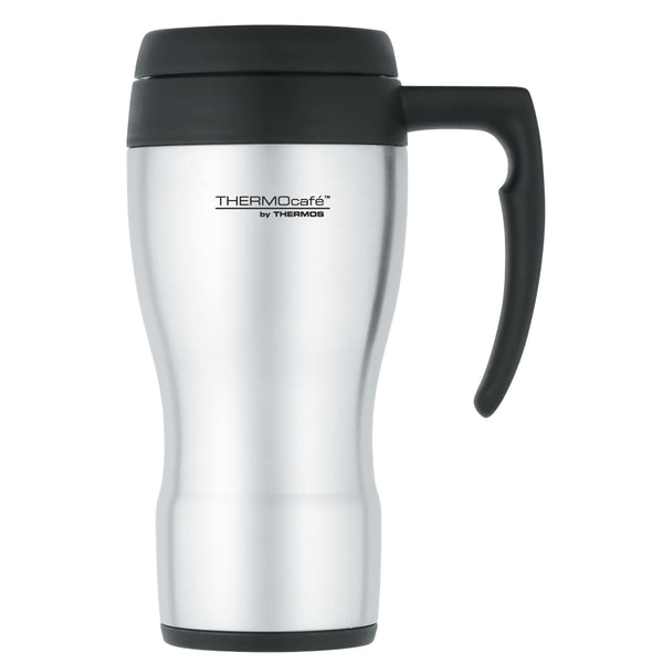 ThermoCafe 430 Travel Mug - 450ml, Stainless Steel - Thermo Hero