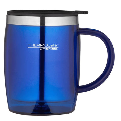 ThermoCafe Translucent Desk Mug - 450ml, Blue - Thermo Hero