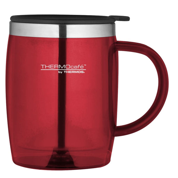 ThermoCafe Translucent Desk Mug - 450ml, Red - Thermo Hero