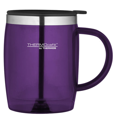 ThermoCafe Translucent Desk Mug - 450ml, Purple - Thermo Hero