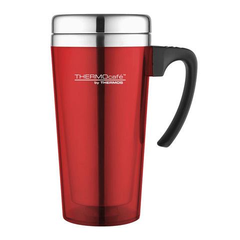 ThermoCafe Soft Touch Travel Mug - 420ml, Red - Thermo Hero