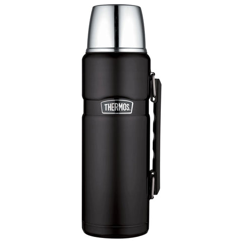 Thermos King Flask - 1.2L, Matt Black - Thermo Hero