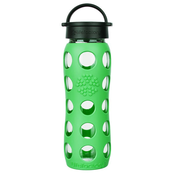 Lifefactory Glass Water Bottle with Classic Cap - 650ml, Moss
