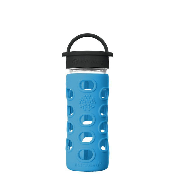 Lifefactory Glass Water Bottle with Classic Cap - 350ml, Cobalt Blue