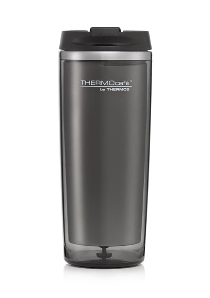 Thermos Thermocafe Flip Lid Travel Tumbler Grey 350ml