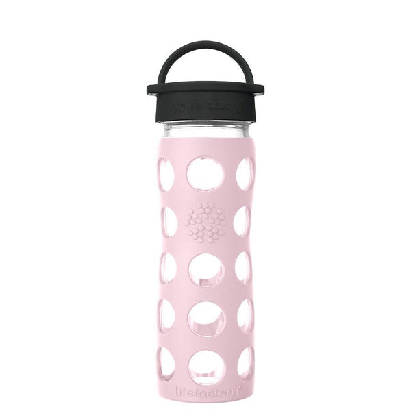 Lifefactory Glass Water Bottle with Classic Cap - 475ml, Desert Rose