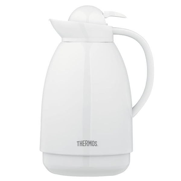 Thermos Glass Lined Carafe 1.0L White - Thermo Hero