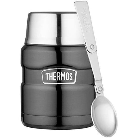 Thermos King Food Flask - 470ml, Gun Metal - Thermo Hero