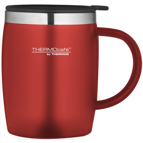 ThermoCafe Soft Touch Desk Mug - 450ml, Red - Thermo Hero