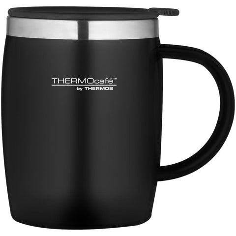 ThermoCafe Soft Touch Desk Mug - 450ml, Black - Thermo Hero