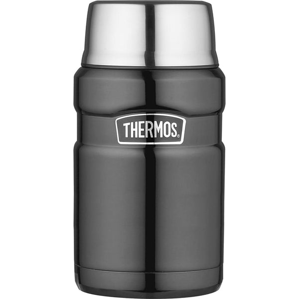 Thermos King Food Flask - 710ml, Gun Metal - Thermo Hero