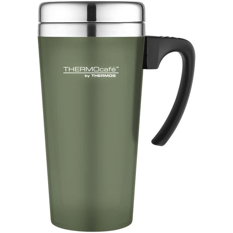 ThermoCafe Soft Touch Travel Mug - 420ml, Moss - Thermo Hero
