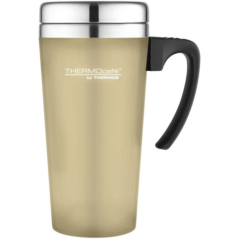 ThermoCafe Soft Touch Travel Mug - 420ml, Old Chalk - Thermo Hero