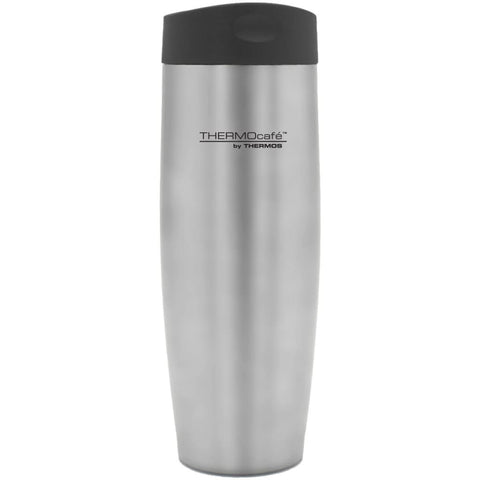 ThermoCafe Push Button Travel Tumbler - 420ml, Stainless Steel - Thermo Hero