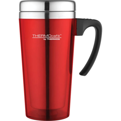 ThermoCafe Translucent Travel Mug - 420ml, Red - Thermo Hero