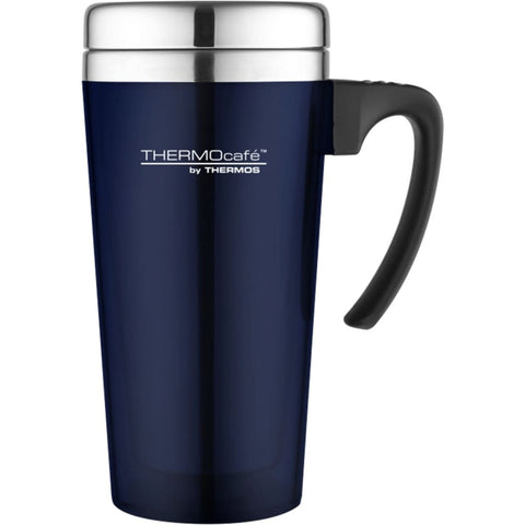 ThermoCafe Translucent Travel Mug - 420ml, Blue - Thermo Hero
