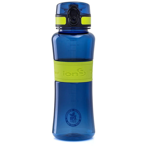 Ion8 Ultimate Sports Water Bottle - 550ml, Dark Blue/Lime Green - Thermo Hero