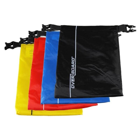Overboard Dry Pouch Multi-pack - 1 Litre, Black/Blue/Red/Yellow - Thermo Hero
