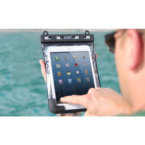 Overboard Waterproof Tablet Case with Shoulder Strap - Small, Black - Thermo Hero