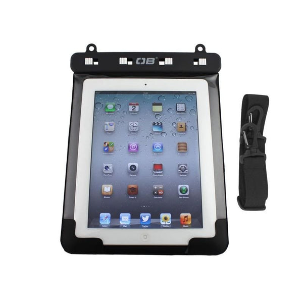 Overboard Waterproof Tablet Case with Shoulder Strap - Large, Black - Thermo Hero