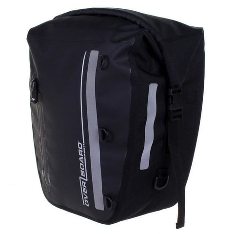 Overboard Classic Waterproof Bike Pannier - 17 Litres, Black - Thermo Hero