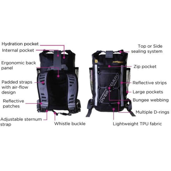 Overboard Pro-Light Waterproof Backpack - 12 Litres - Thermo Hero