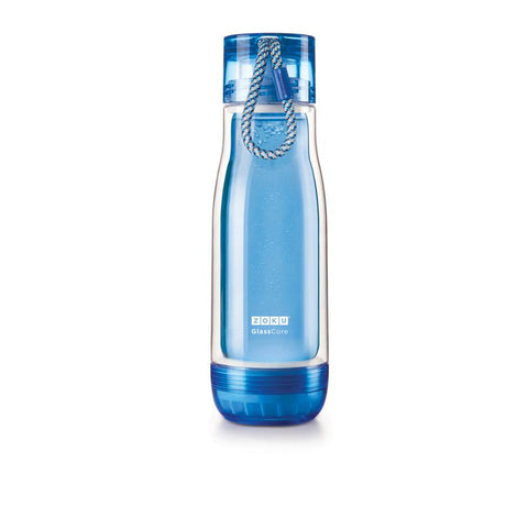 Zoku Glass Core Bottle - 0.45L, Blue - Thermo Hero