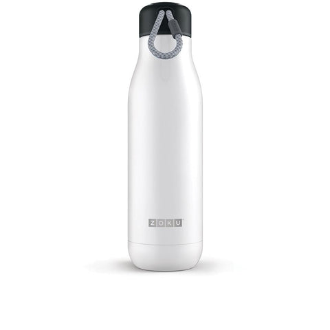 Zoku Stainless Steel Bottle - 0.71L, White - Thermo Hero