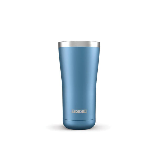 Zoku 3 in 1 Stainless Steel Tumbler - 0.57L, Blue - Thermo Hero