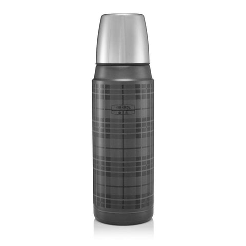 Thermos Retro Stainless Steel Flask Grey Tartan 470ml