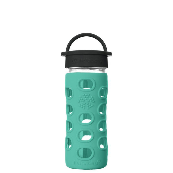 Lifefactory Glass Water Bottle with Classic Cap - 350ml, Kale