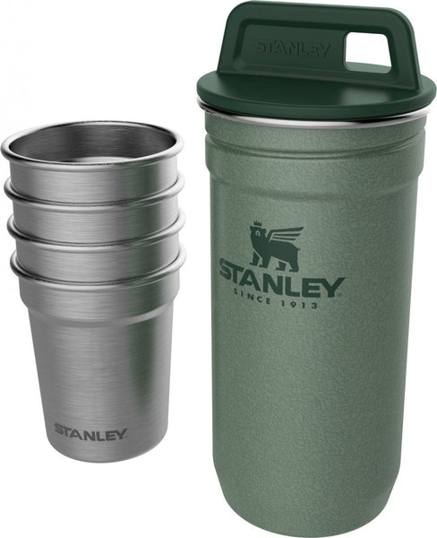 Stanley Adventure Stainless Steel Shot Glass Set Hammertone Green - Thermo Hero