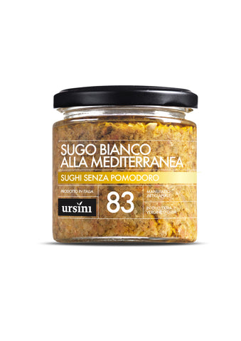 Pasta Sauce - WHITE SAUCE MEDITERRANEA - 7oz / 200g, Ursini imported by Product of Italy