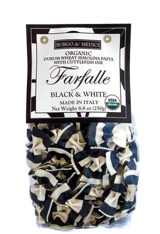 BLACK SQUID INK BOW TIE PASTA - 8.8oz / 250g