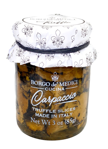 Carpaccio Black Summer Italian Truffle Slices - Gourmet Food Garnish Seasoning - 3oz
