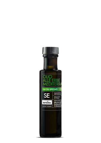 Flavored olive oil - MEDITERREAN HERBS EXTRA VIRGIN OLIVE OIL - 3.4fl oz / 100ml, Ursini imported by Product of Italy